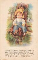 Postcard Boy Fishing