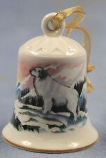 great pyrenees Porzellan glocke figur porzellan weihnachtsglocke 55