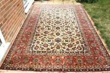 £7000 Antique Persian Isfahan Esfahan silk and wool hand knotted 330x 210 cm
