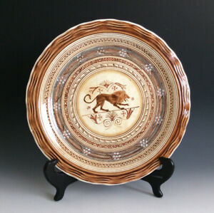 Vintage Kepameikos Aohnai Wall Plate Hade Made In Greece