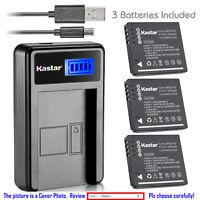 Kastar Battery LCD Charger for Panasonic DMW-BCF10 & Panasonic Lumix DMC-TS4