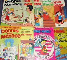 DENNIS THE MENACE LOT OF 9 ISSUES from 1963-1978 Comic Strip Character! Fawcett