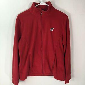 Level Wear Womens Mock Neck Long Sleeves Casual Red Zipper Jacket Size Large