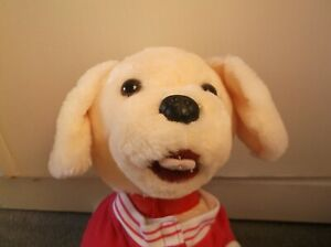 """adopt me!!  BUILD A BEAR PUPPY DOG! WEARING PROMISE PETS JACKET 13"""" LONG + TAIL"""