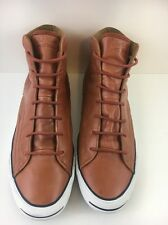 CONVERSE Jack Purcell Mens Size 13 Brown Leather High Top Shoes Sneakers