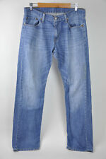 Mens LEVIS Jeans 514 Mediium Light Wash 34x34 Straight Fit (minor stain/hole)