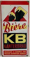 Antigua Placa Esmaltados Cerveza KB Kanter Art Francia Luynes Charms 40x80cm