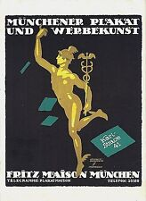 Original vintage poster print MUNICH POSTER ART c.1920 Hohlwein