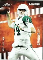 """SAM DARNOLD 2018 LEAF """"HYPE"""" ROOKIE CARD #4A! USC / NEW YORK JETS!"""