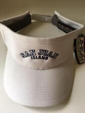 NWT AHEAD VINTAGE Sports Golf Visor SAN JUAN ISLAND logo Beige