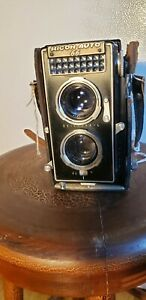 Ricoh Auto 66 film Camera w/ riken 8cm f/3.5 the Rolleimagic Competitor