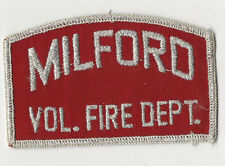RARE Milford Conneticut Fire Department Patch (Red)