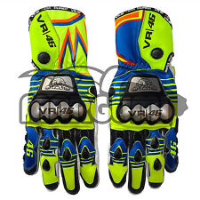 Valentino Rossi D1 Pro Metal Replica Race Gloves 2016 (Motorbike Leather Gloves)