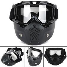 Racing Detachable Modular Motorcycle Helmet Protective Face Mask Shield Goggles