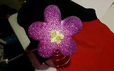 Table Top Flower Nite Light  Purple  Crackle Plastic Style  Spring Bottom Brand