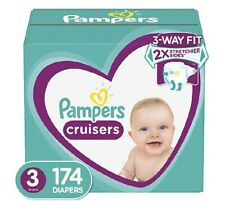 Diapers Size 3, 174 Count - Pampers Cruisers Disposable Baby Diapers, ONE MONTH