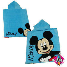 NEW OFFICIAL MICKEY MOUSE CHILDRENS KIDS BLUE HOODED BEACH BATH TOWEL PONCHO