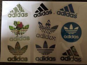 10 x random Logos iron on transfer heat logo 8 X 6 CM each DIY your clothes