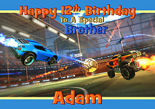 Rocket League Personalised A5 birthday card son brother grandson nephew name age