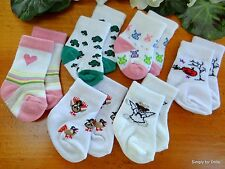 """Set 6 ALL OCCASION """"Holidays"""" DOLL ANKLE SOCKS fits 15"""" & 18"""" AMERICAN GIRL DOLL"""