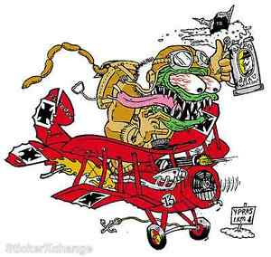 Red Baron STICKER Decal Kozik Poster Artist Roth Like KZ13