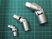 "CT0922 3PC Socket Set Flexi Joint Set 1/4 1/2 & 3/8"" Inch Drive Bendy Knuckle"