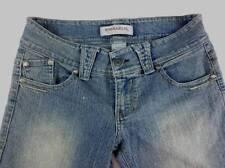 Hydraulic Jeans Women Junior 5/6 Cropped Capri Blue Denim Distressed