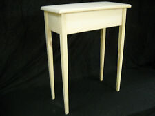 """Unfinished 24"""" Console, Sofa, Foyer,Beveled Edge 11"""" deep Table w/Tapered Legs"""