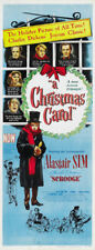 Scrooge Alastair Sim vintage movie poster print