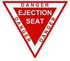 1x DANGER EJECTION SEAT RED WARNING VINYL STICKER FOR BUMPER HELMET LAPTOP DOOR