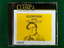 1 CD Musica - KLEMPERER / BRAHMS Sinfonia n.2 n.3 , Ed Bramante (1995) BBBCD9011