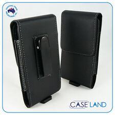 C5- Premium Leather Belt Clip Case Cover Holster For Telstra Slim Plus Blade L5