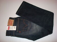 LEVI'S 505 RELAXED STRAIGHT JEANS Dark Blue 30X30 NEW