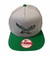 NFL Philadelphia Eagles New Era Snapback Hat - Throwback Retro Vintage Look