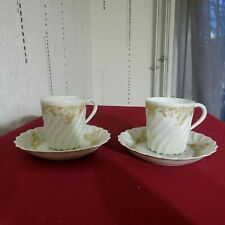2 Tassen A Kaffee Für Mocca/haviland Limoges Torse Weiß Und Gold Modell - Ladore