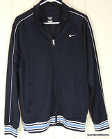 Nike Mens M Deep Navy Blue Stretch Knit Golf Fitness Track Zip Front Jacket