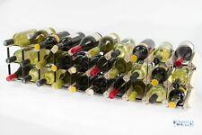 Cranville wine rack storage 20/30 bottle pine wood and black metal assembled