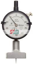 Mitutoyo 7210 Dial Depth Gauge, Indicator Type, 0-10mm Range, 0.01mm Graduation,
