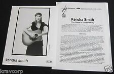 KENDRA SMITH 'FIVE WAYS OF DISAPPEARING' 1995 PRESS KIT--PHOTO