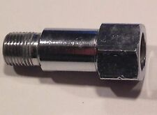 """adaptor NPT 1/8"""" female hexag. to 1/8"""" NPT male,Cr  plated brass, used, 5 pk"""