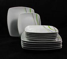 """Service de table porcelaine COMBI salle à manger 24 pièces """" printemps Vagues """""""