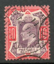 1902 SG256 SPEC M43 (5), 10d Dull purple and Scarlet cds