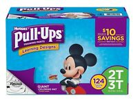 Huggies Pull Ups Training Pants For Boys Size 2T - 3T 128 Pack  CWDS