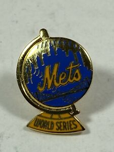 VINTAGE 1973 MLB NEW YORK METS WORLD SERIES BASEBALL PRESS PIN by BALFOUR
