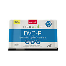 Maxell DVD-R Discs, 4.7GB, 16x, Spindle, Gold, 50/Pack, PK - MAX638011