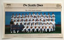 Vintage Seattle Mariners 1993 Team Picture Poster with Signatures