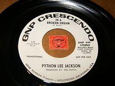 PYTHON LEE JACKSON - IN A BROKEN DREAM  / LISTEN - POP PSYCH ROCK
