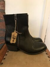 Hudson Women's Leather Ankle Boots Size UK4, EU37 Black
