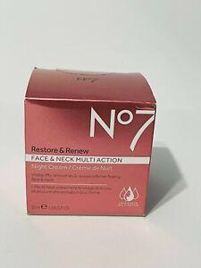 No7 Restore & Renew Face & Neck Multi Action Night Cream 50 ml