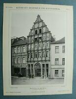 AuK1) Architektur Stadt Minden 1901 Möbel Fabrik W Meyer Hohestraße 33 26x34cm